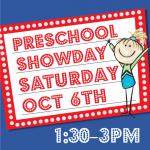 Preschool Spring Show Day – October 6th, 2018